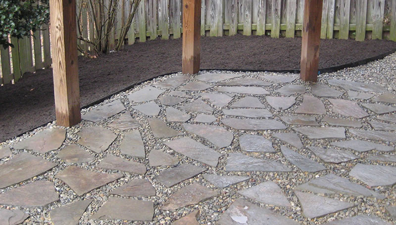 Patio Construction - Flagstone Patio Built By Prosperity Lawn & Landscape
